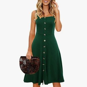 NWT A-line Fit n Flare, Button Down, MIDI Sundress